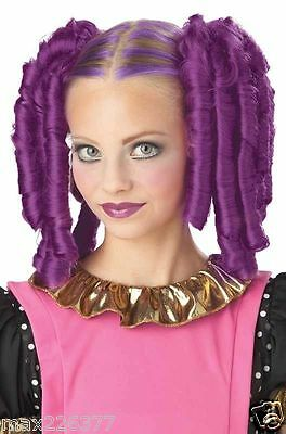 NEW Anime Curls with Hairscara Halloween Costume Wig purplegirl women Magenta