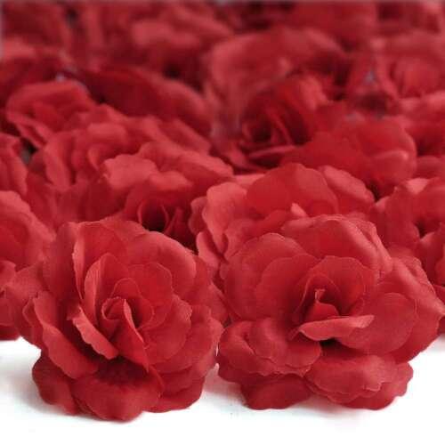 20stk.Künstliche Große Rosenköpfe Blütenköpfe 70mm Hochzeit Dekoration HS8 Bunt