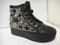 Nyla Miranda Black Women's Platform Ankle Shoes Sizes: 6-10