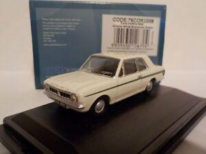 Cortina-de-Ford-Mk2-Blanco-Verde-Raya-modelo-coches-Oxford-Diecast-1-76
