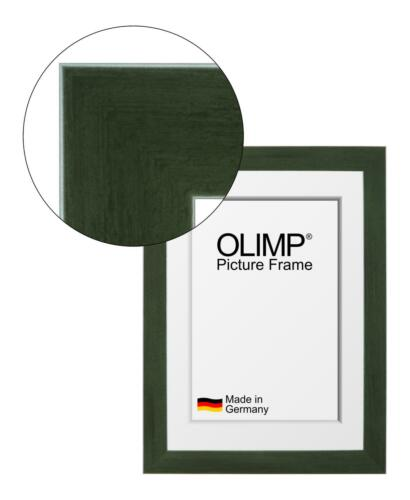 Cadre Olimp Vert Foncé Avec Entspiegeltem Verre Acrylique 10x20-150x100 CM