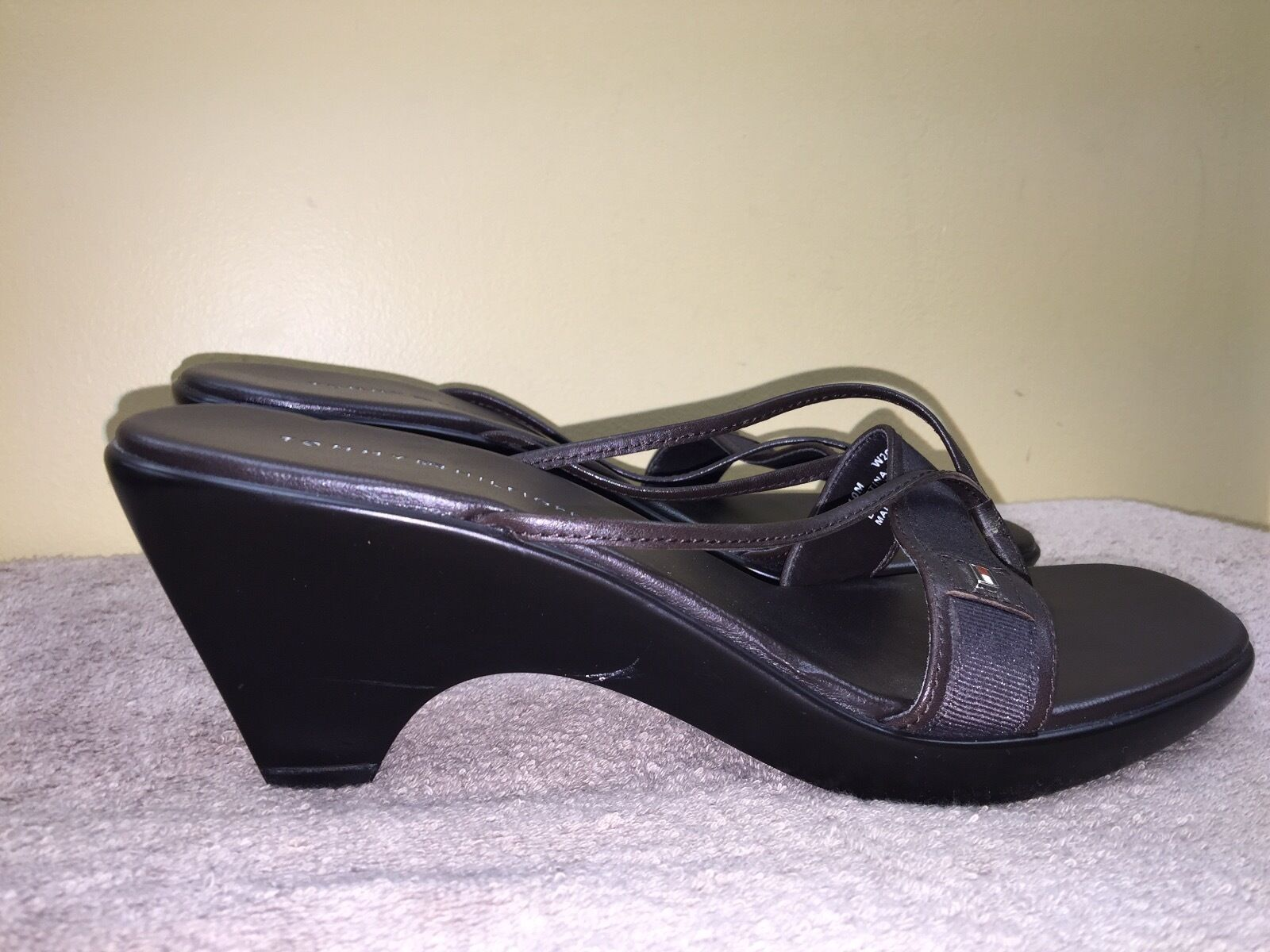 """TOMMY HILFIGER 'Martina""""Women's Solid brown Wedge… - image 4"""