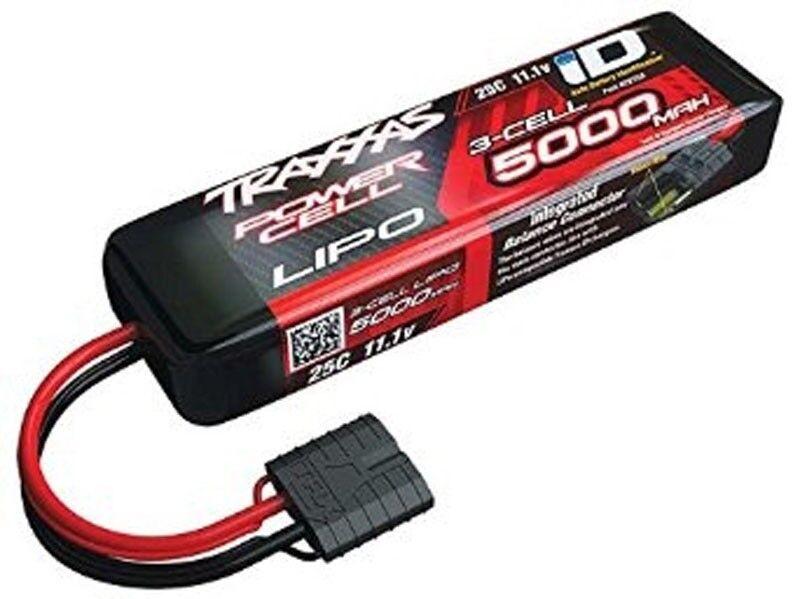 TRAXXAS Power Cell LiPo 5000mah 11.1v 25c spina ID e-Revo, E-MAXX - 2872x