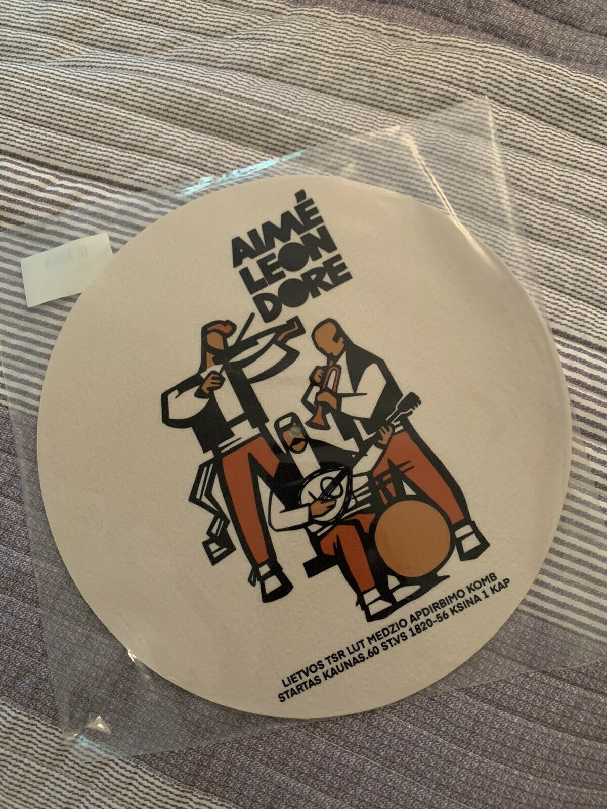 aime leon dore graphic slip mat band FW21 sold out