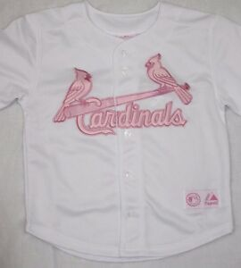 e4d178d4aac2 Details about NEW Girls Infant Toddler MAJESTIC St Louis CARDINALS Pink  Baseball MLB Jersey