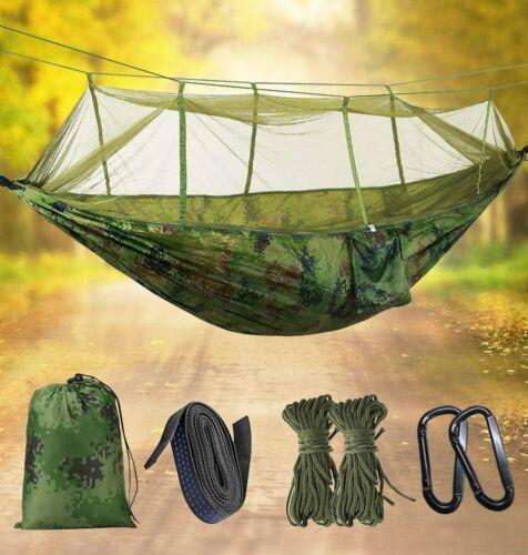 Ultraleichte Moskito Netz Camp Hängematte Tragfähigkeit,275 x140cm Atmungsaktiv