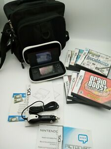 Nintendo DS Lite W/Carrying Case & Travel Case 6 Games Car Charger Manuals