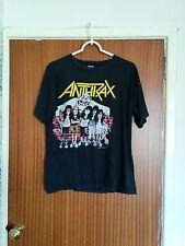 Rare Anthrax vintage OG tour t-shirt State of Euphoria 1988 thrash metal large