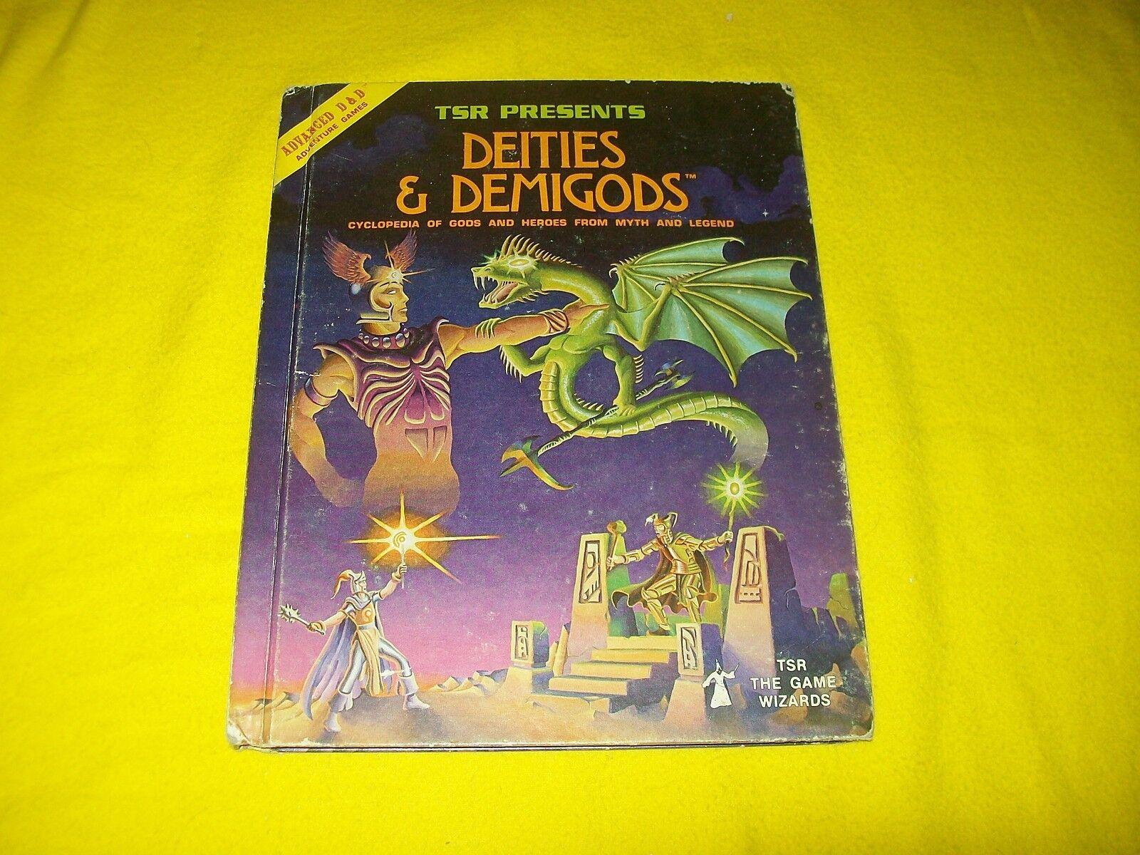 DEITIES & DEMIGODS DUNGEONS DUNGEONS DUNGEONS & DRAGONS AD&D TSR 2013 - 1 TRUE 1ST PRINT CTHULHU 949e7e