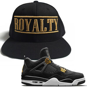 10a00723fb44 ROYALTY Crown Gold Hat T Shirt match with Air Jordan Retro 4 Gold ...