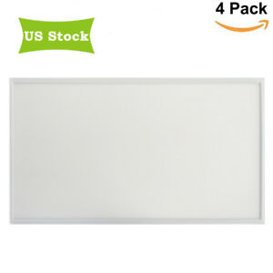 Details about 2x4 LED Flat Panel Light Fixture 50W 72W Dimmable Drop  Ceiling Shop Lights 4pack