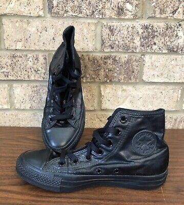 Converse All Star Chuck Taylor Unisex Shiny Textile Hi Top Black Shoes M-4 W-6
