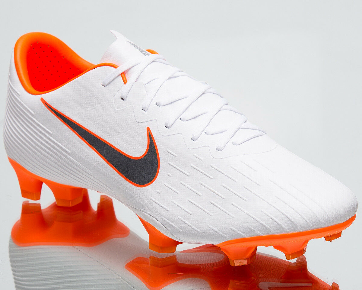 Nike Mercurial Vapor XII Pro FG White Grey Football Soccer Cleats AH7382-107