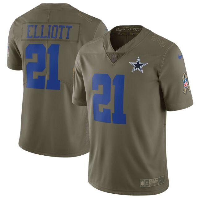 8a7358b234c Dallas Cowboys Ezekiel Elliott Nike Salute To Service Limited Olive Jersey,  XXL