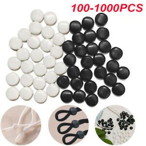 1000x Cord Locks Face Mask Elastic Cord Adjuster Buckle Beads Non