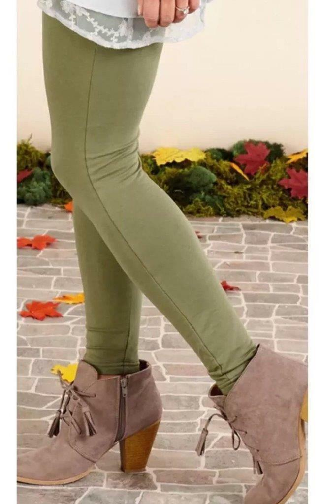 Matilda Jane NOTION SANDY Pants Small S Women's Green Leggings NWT