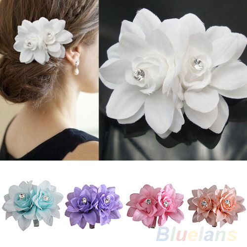Women Flower Hair Clip Pin For Bridal Wedding Party Prom Headwear Beauteous