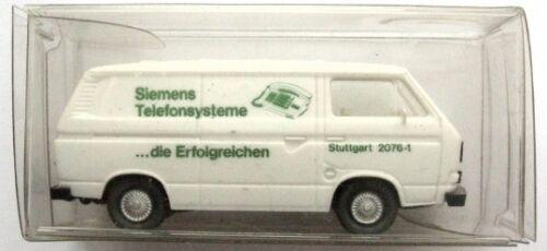 Furgoneta VW t3 modelo-Wiking 1:87 h0-Siemens stuttgart-blanco-nuevo