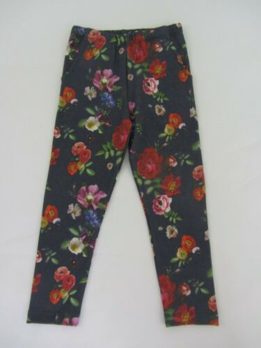 NEW JOHN LEWIS  GIRLS JEGGINGS LEGGINGS blue floral roses  6 years