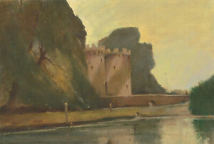 William-Eyre-1891-1979-Signed-Mid-20th-Century-Oil-Whittington-Castle