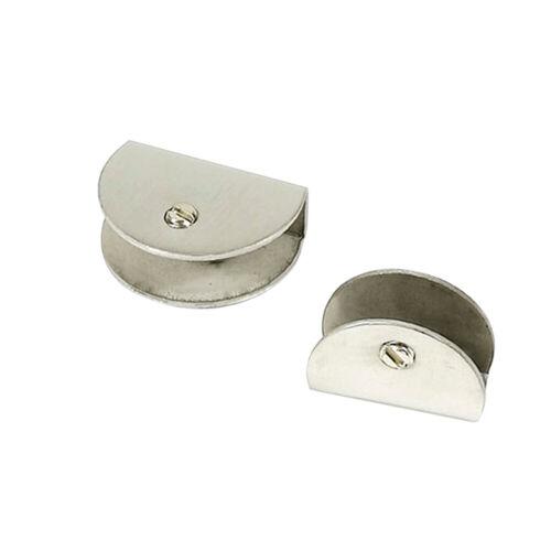 2 Stücke Glasklemmen Edelstahl Glasklemmhalter für Fenster Geländer Handlauf NEU