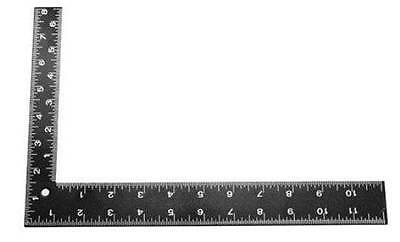 "8"" x 12"" Carpenter Framing Square SAE and Metric Ruler"