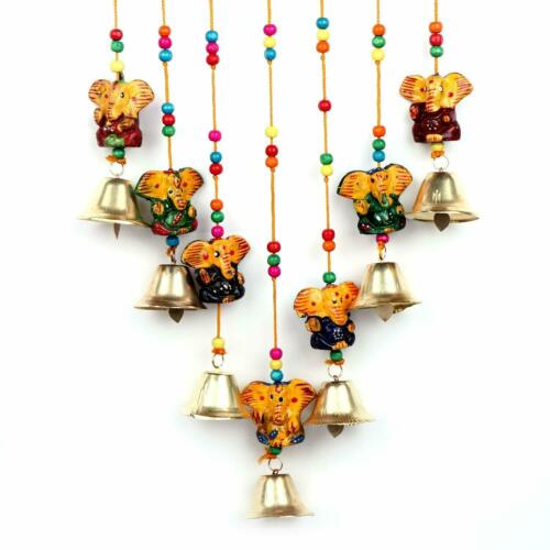 KKSM Traditional Art Home Decoration Wall Hanging Ganesha Wind Chime with Bells