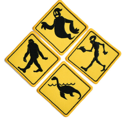 Bigfoot Alien,lochness ghost set of 4 Iron on patch