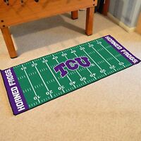 Tcu Horned Frogs 30 X 72 Football Field Runner Area Rug Floor Mat