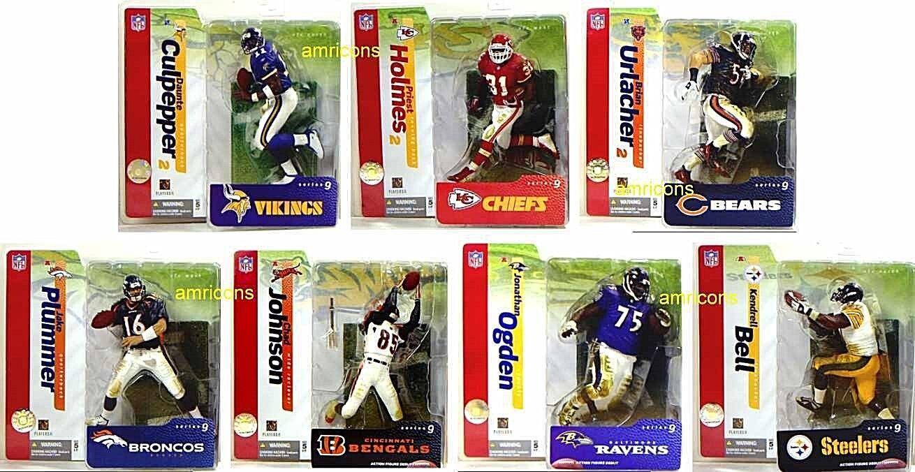 McFarlane Sports NFL Football Series 9 Figure Set of 7 Action Figures  Urlacher