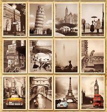 Lots 32pcs Famous Art Building Paintings Posters Landscape Postcard BULK Set