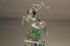 Iris Arc Crystal King Deer Stag Leaping Faceted Clear Glass Swarovski Interest