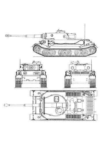 WWII Poster PzKpfw VI Tiger Porsche german heavy tank decor art gift reenactor