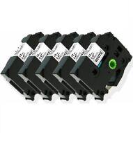5 Pkpack Tze231 Tz231 Blackwhite Label Tape For Brother P Touch Pt D210 12mm