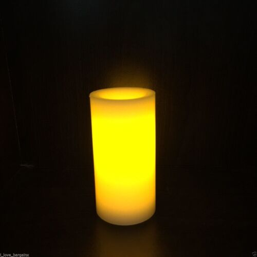 10cm LED Battery Operated Flickering Real Wax Pillar Candle Flameless Wedding