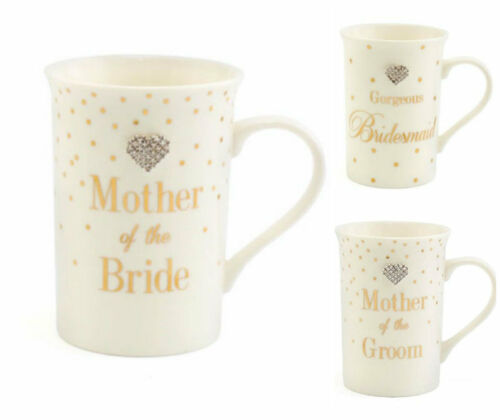 Mad Dot Mother of the Groom  Bridesmaid Mother of the Bride Wedding Day Gift Mug