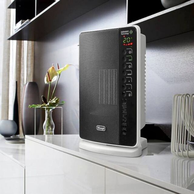 NEW DeLonghi DCH7093ER Ceramic Heater Flat Panel 1500W LCD Display ECO Function