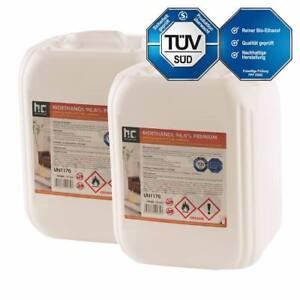 30 Liter (3 x 10 L) Bioethanol Premium 96,6% TÜV-geprüft Bio Ethanol für Kamin