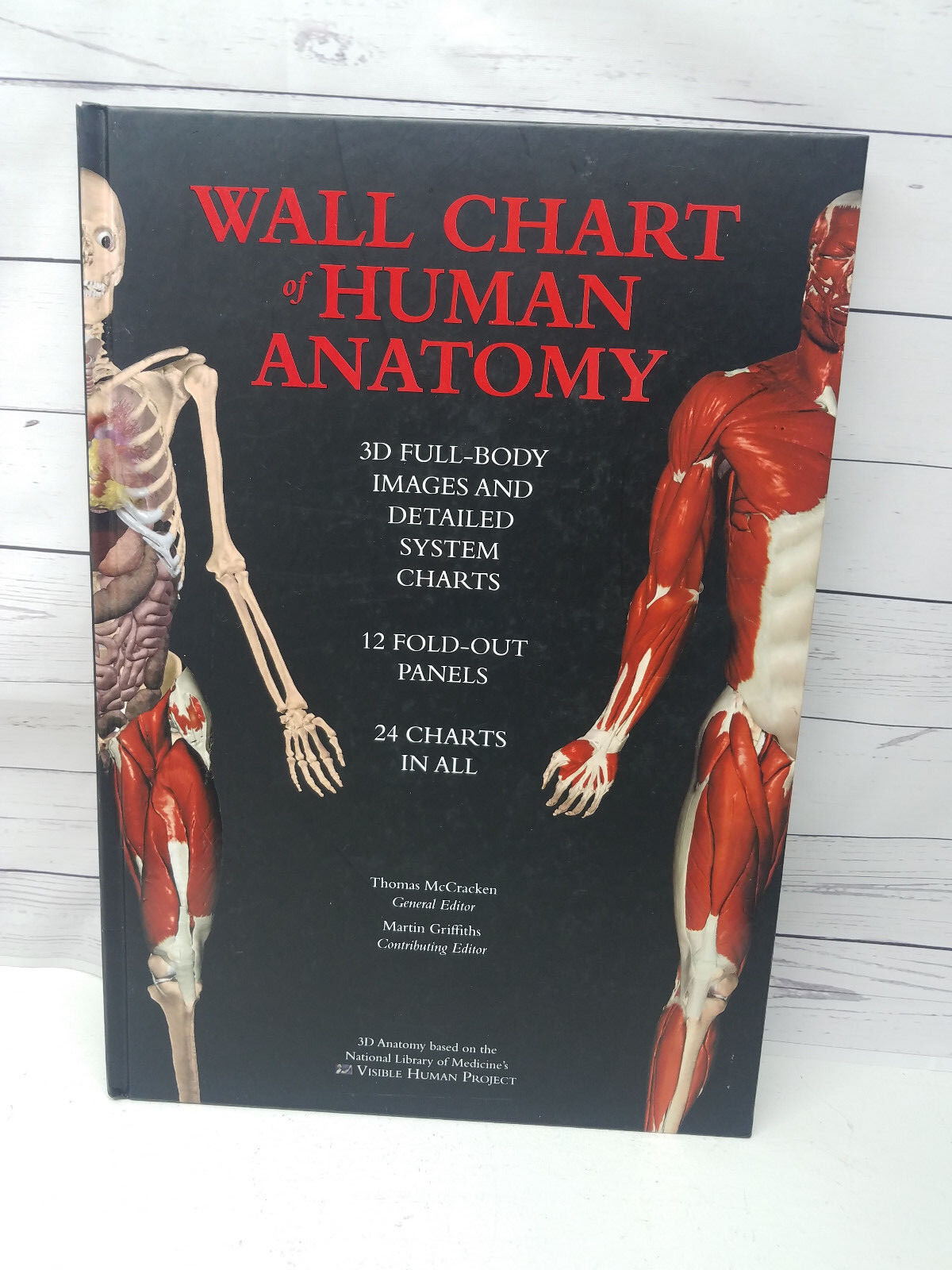 Wall Chart Of Human Anatomy 3d Full Body Images 24 Charts 12 Fold