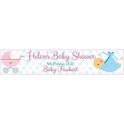2 x PERSONALISED BABY SHOWER BANNERS