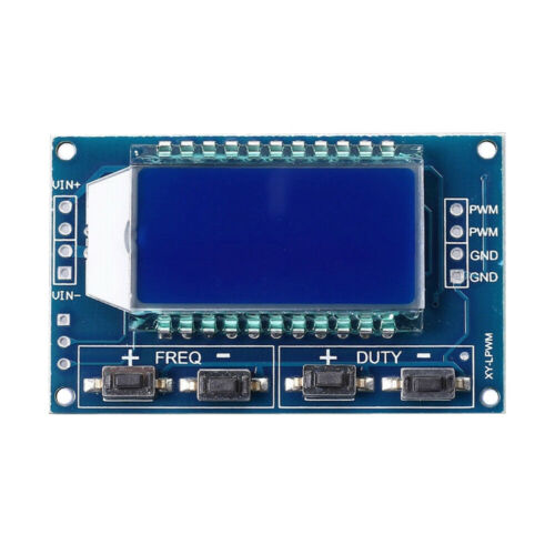 Signal Generator PWM Pulse Frequency Duty Cycle Adjustable Module LCD BBC