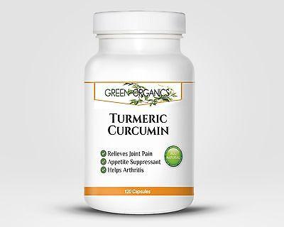 Pure Turmeric Curcumin by Green Organics, 120 Capsules