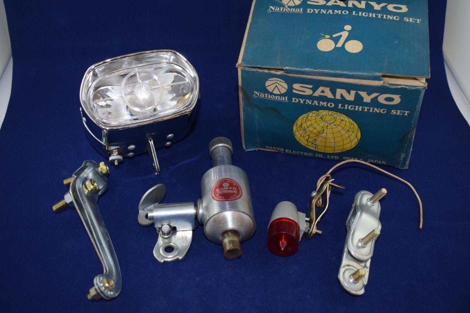 SANYO Dynamo Licht Iighting vooraan achter Retro Vintage fiets gemaakt in JAPAN NOS