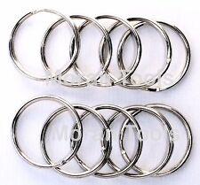 10 x Split Rings 35mm large Chrome Metal Steel Loop Hook O Ring Pack keyring