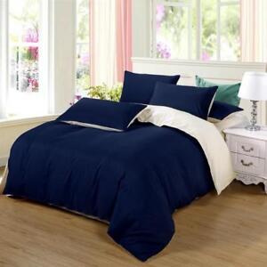 Image Is Loading Bedding Set King Size Duvet Cover Dark Blue