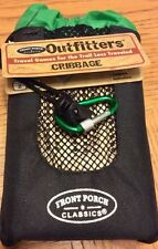 Front Porch Classics Travel Size Wooden Cribbage Card Board Game W/ Storage Bag
