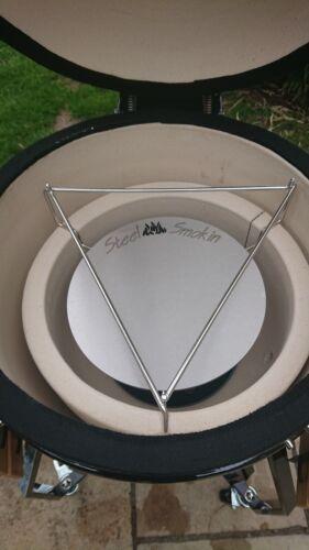 Kamado Grill Plain Heat Deflectors 29cm Heavy Duty Stainless Steel 5mm Thick