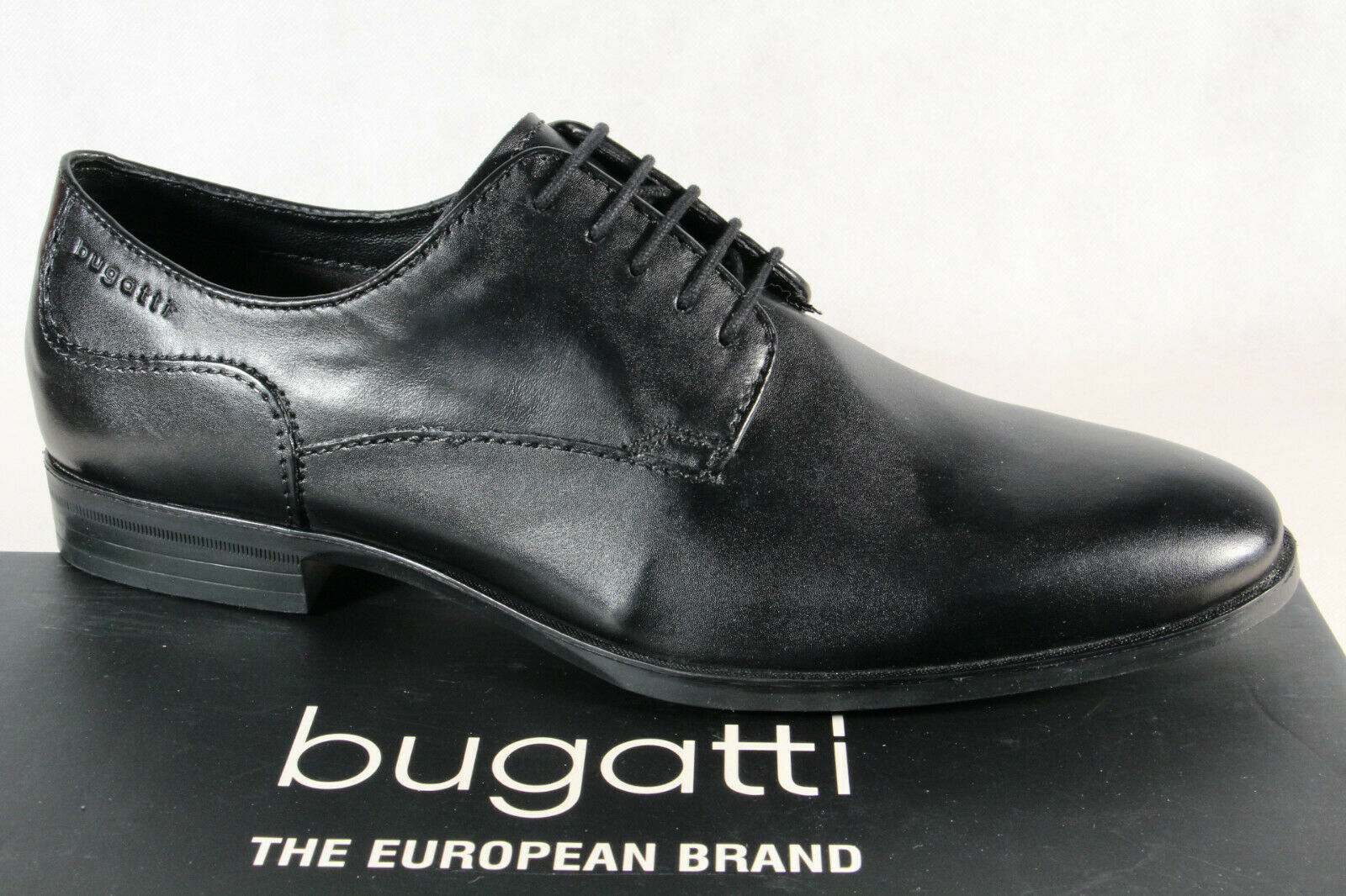 Bugatti Men's Lace-Up shoes Lace-Up Loafers Sneaker Black 44601 New