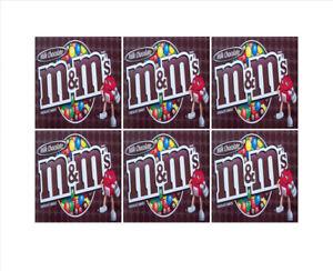 6-Inside-Mount-vendstar-VENDING-candy-gumball-labels-Sticker-2-5-x-2-5-034-m-amp-m-plai