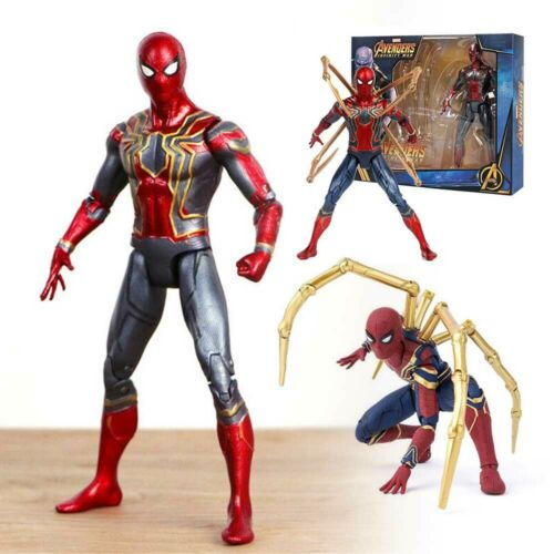 18CM Avengers 3 Infinity War Iron Spiderman Spider-Man Action Figure Toys Gift